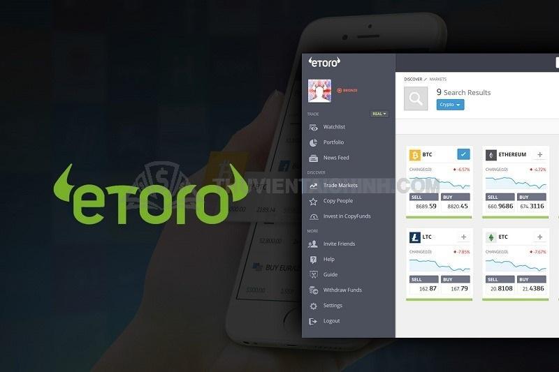 eToro phân chia tài khoản theo phân khúc khách hàng với khối lượng giao dịch chênh lệch