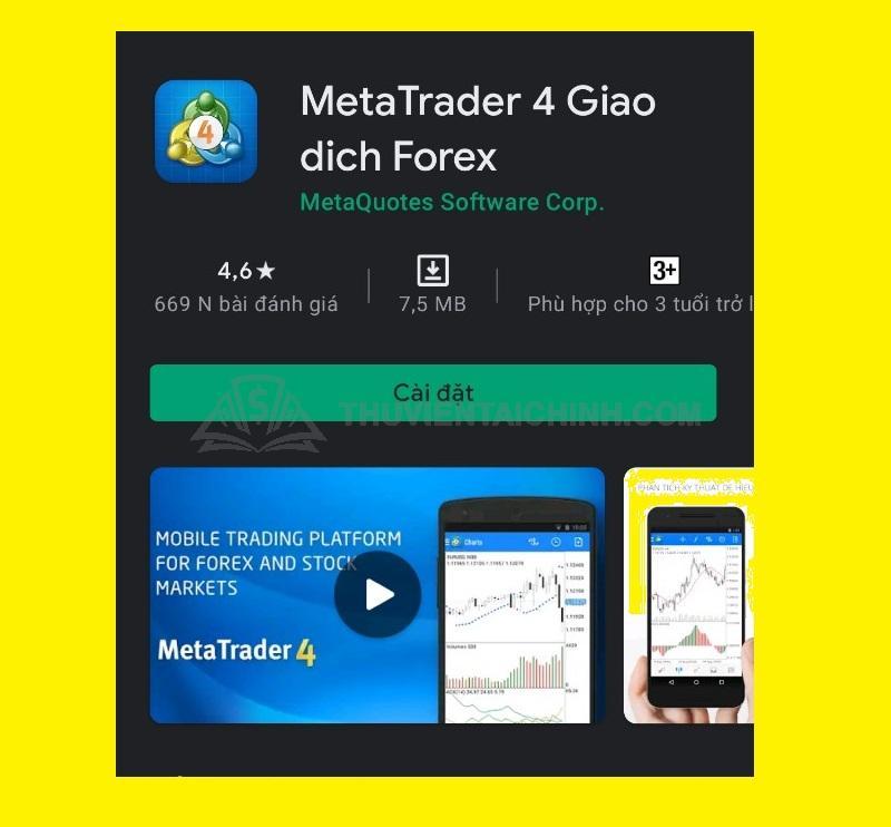 Cách tạo tài khoản MetaTrader 4 trên điện thoại