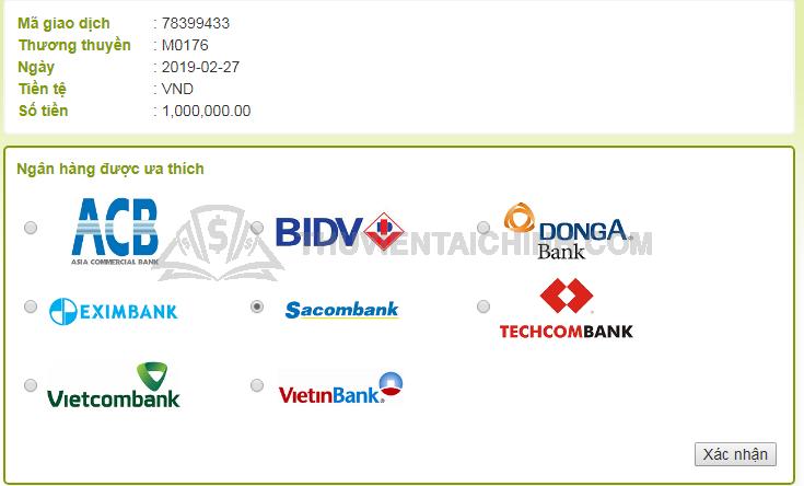 Lựa chọn ngân hàng rút tiền về tài khoản