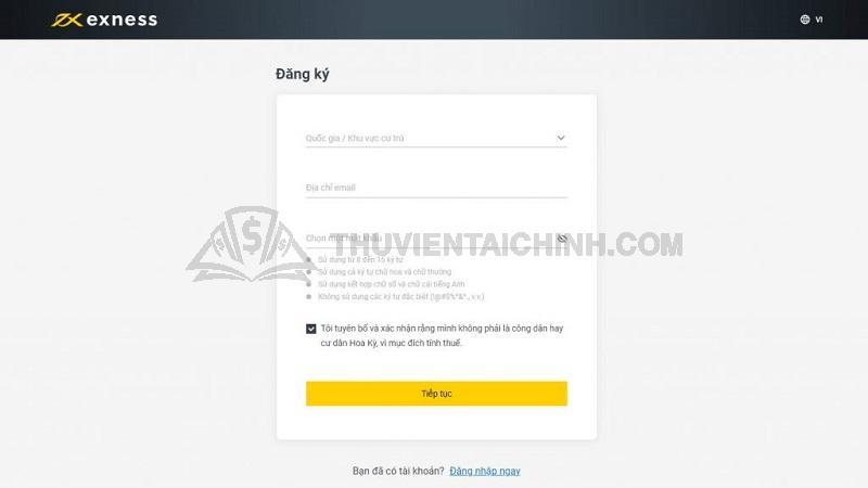 Hướng dẫn thay đổi mật khẩu tài khoản Exness
